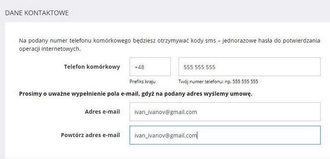 Рахунок в польському банку: контакти