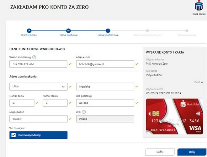 Інструкція відкриття рахунку в польському банку