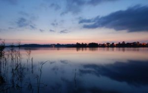 Вечір на мазурських озерах