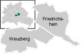 Район Фрідріхсхайн-Кройцберг (Friedrichshain-Kreuzberg) у Берліні