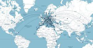 Карта напрямків з/в аеропорт імені Фредеріка Шопена