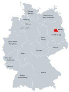 Берлін на карті Німеччини