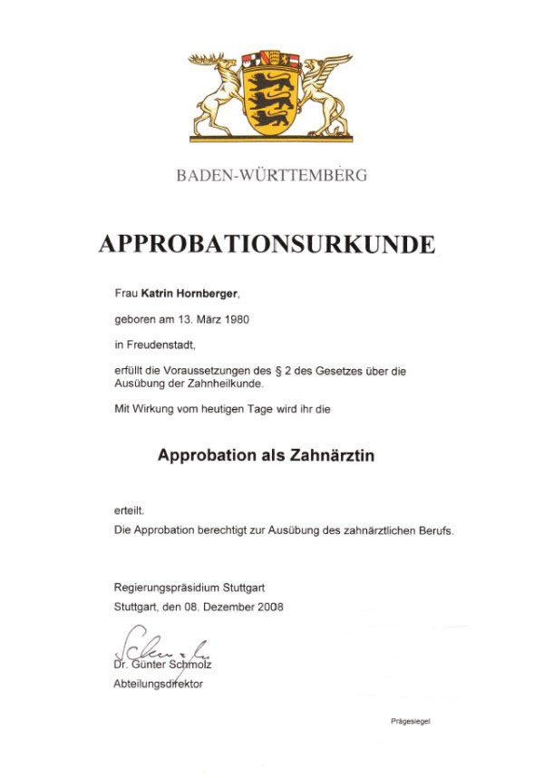 Approbation в Німеччині