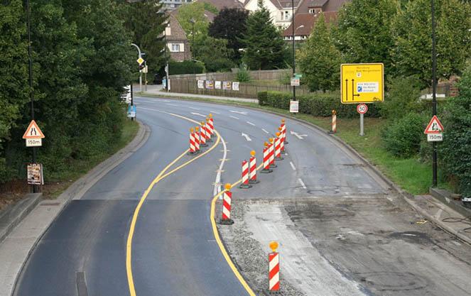 Тимчасова розмітка доріг в Німеччині