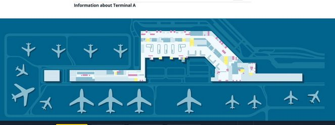 План Терміналу А в аеропорт Шопена