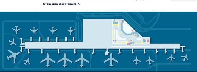 Схема терміналу 3 аеропорту Шопена