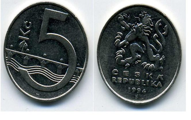 Чеські п'ять крон