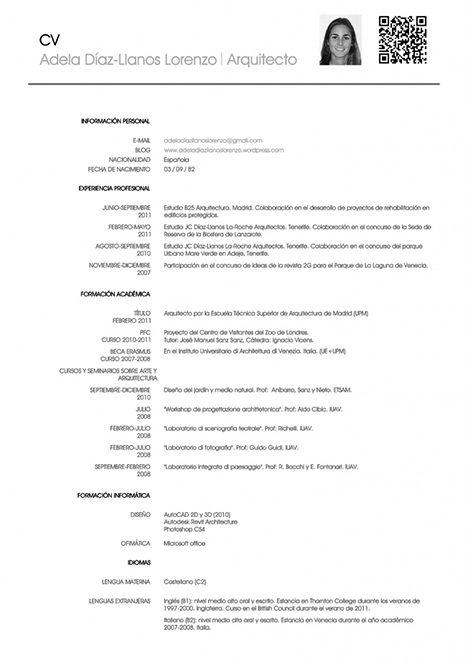 Зразок резюме іспанською мовою