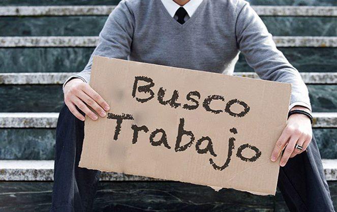 Табличка з написом шукаю роботу в Іспанії