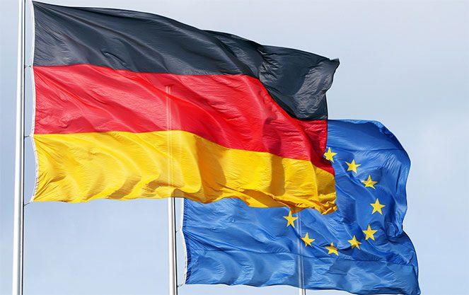 Прапор Німеччини й ЄС