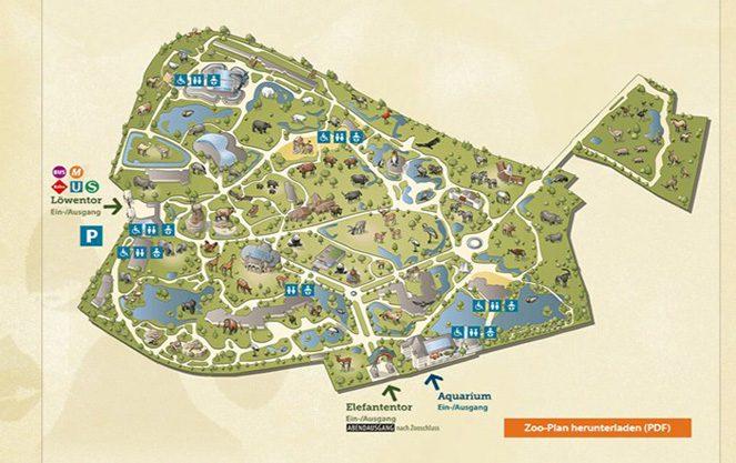 Карта берлінського зоопарку