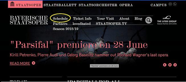 Розклад Баварської опери