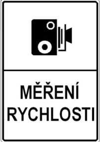 Знак стаціонарної камери в Чехії