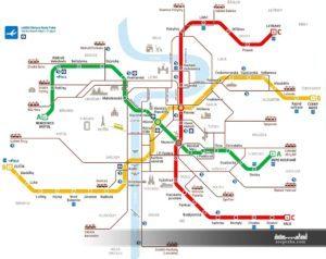 Схема метро та інших видів транспорту чеською мовою