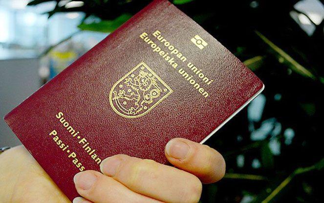 Зразок фінської паспорта