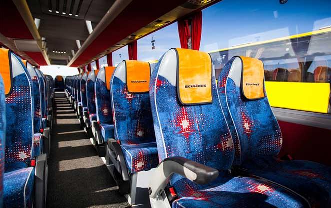 Салон автобуса Еколайнс