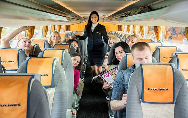 В автобусі компанії Еколайнс