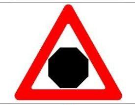 попередження про наближення до зони дії знаку «Стоп»