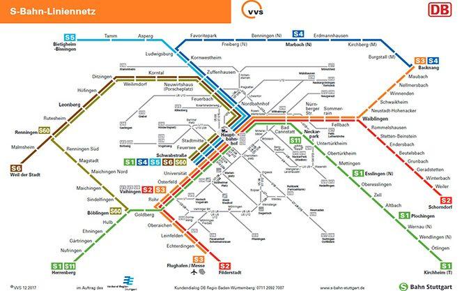 Поїзди міського та приміського сполучення в Штутгарті