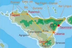 Аеропорти Сицилії на карті