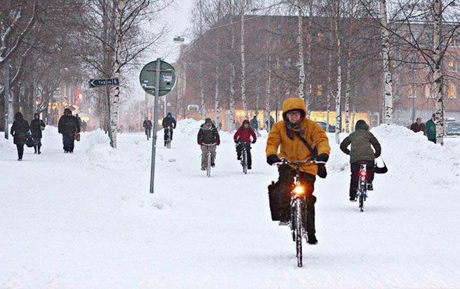 Роль велосипедів у Фінляндії