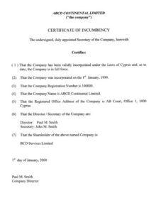 сертифікат про адресу