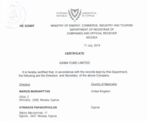 сертифікат про директорів
