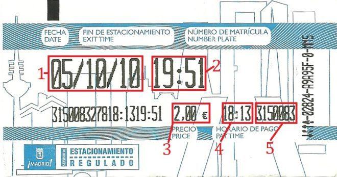 Приклад квитанції в Іспанії