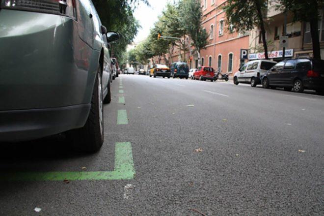 Зелена лінія паркування в Іспанії