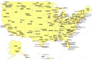 аеропорти Америки на карті