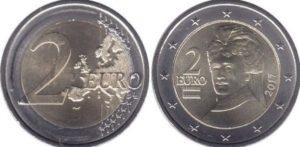Монети євро в Австрії